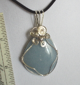 Wire Wrapped Cabachon Angelite