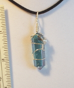 Wire Wrapped Aqua Aura Crystal