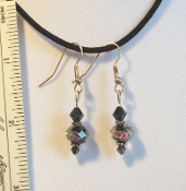 Earrings, Rose Bead